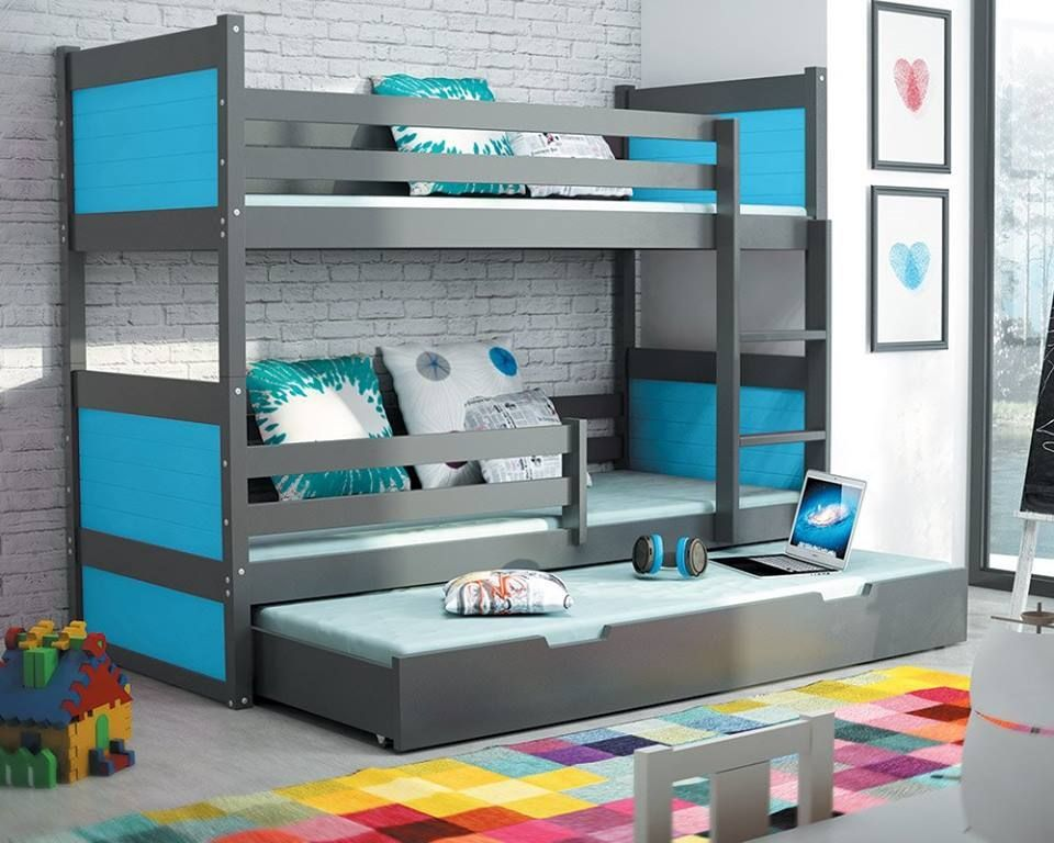 80fcb9968563 Blue Bunk   Loft Beds You ll Love  BunkBed  KidsBed