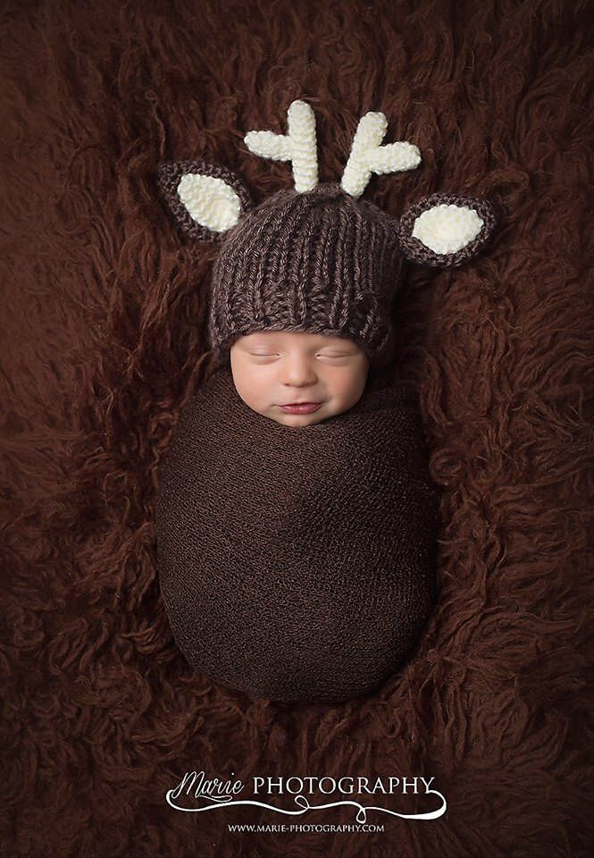 Photo of Items similar to Classic Whimsical Newborn Deer Hat-Newborn Fawn Hat-Newborn Hat with Antlers-Newborn Photo Prop-Deer Photo Props-Newborn Baby Boy Deer Hat on Etsy