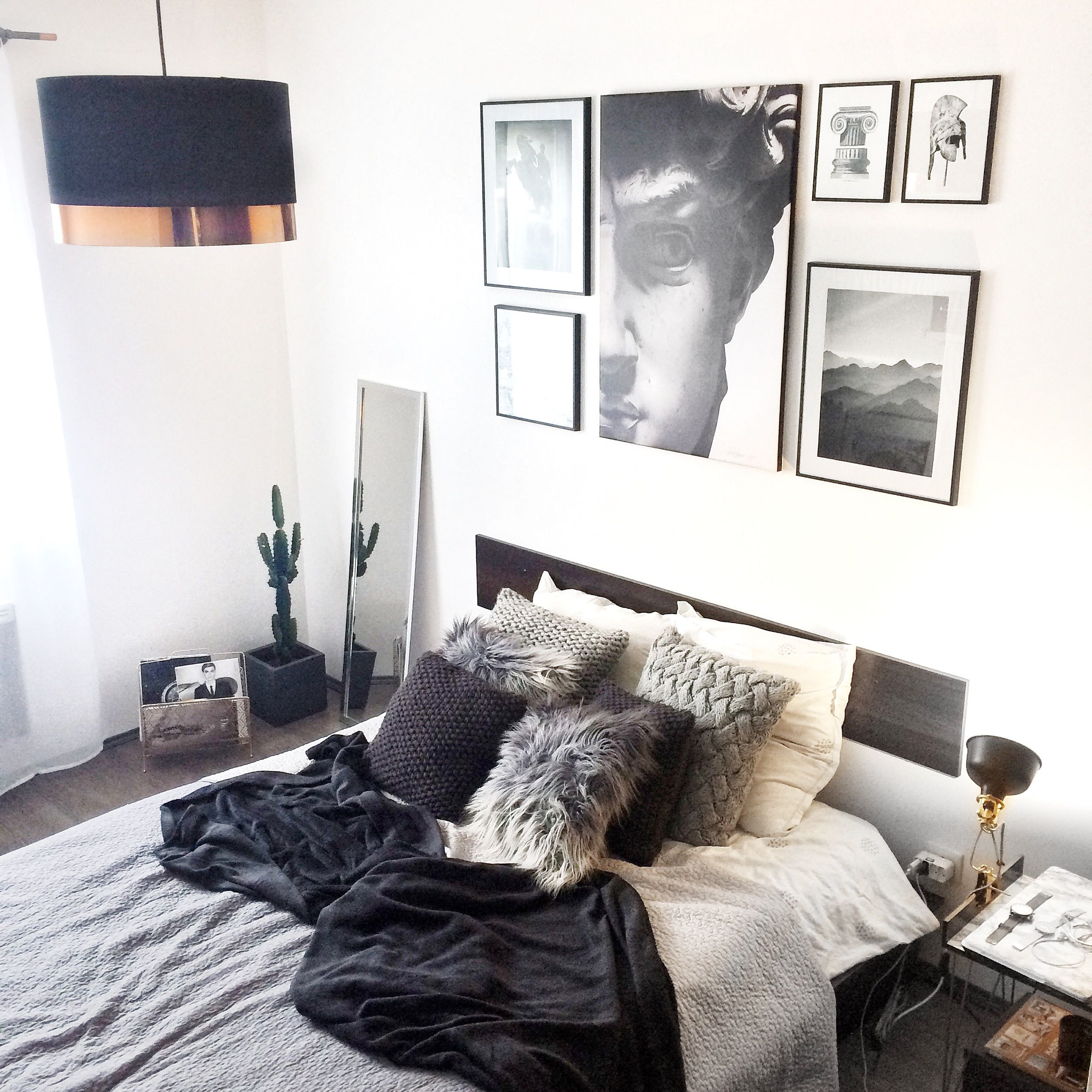 My room inspired by Pinterest ✨ Wall art created and designed ...