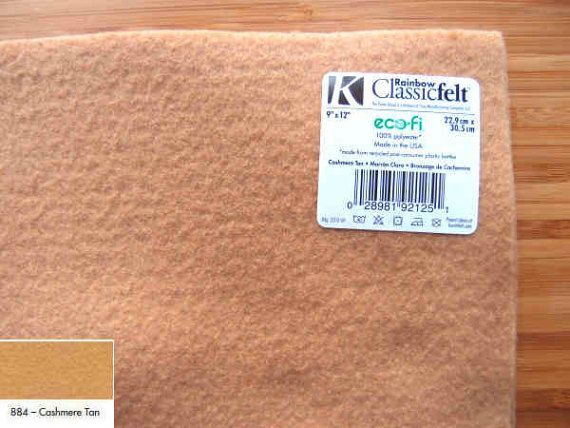 Felt - Cashmere Tan - Kunin Eco Rainbow Classic Felt Made from Recycled Plastic Bottles Eco-Fi Eco Friendly Recycled Polyester by LoveBagMaking Find it now at http://ift.tt/2k39J6P!