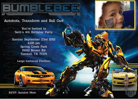 Hey, I found this really awesome Etsy listing at https://www.etsy.com/listing/125570828/transformers-5x7-boy-or-girl-birthday
