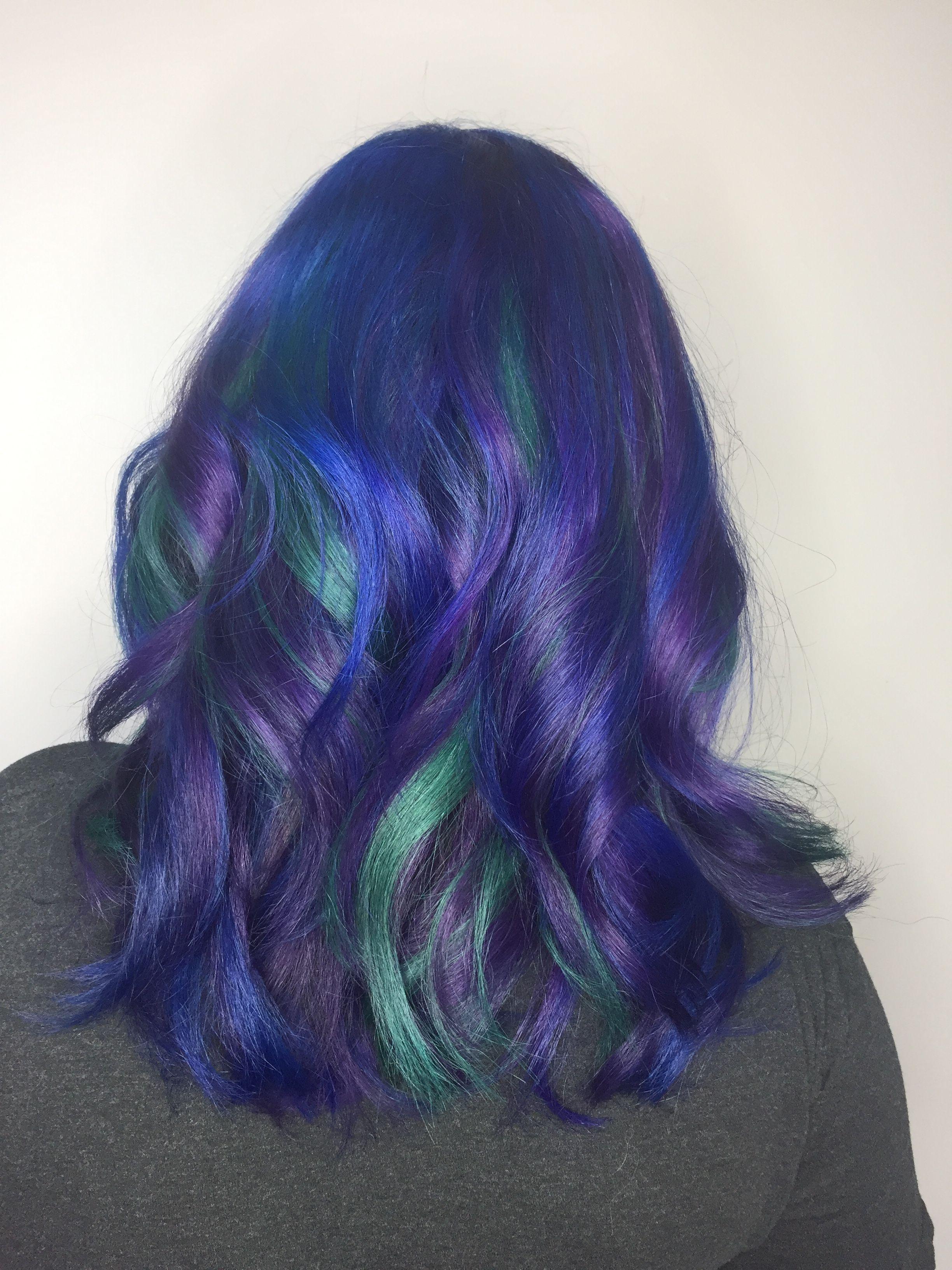 Fashion Color Galaxy Hair Color By Melissa Lindsay At