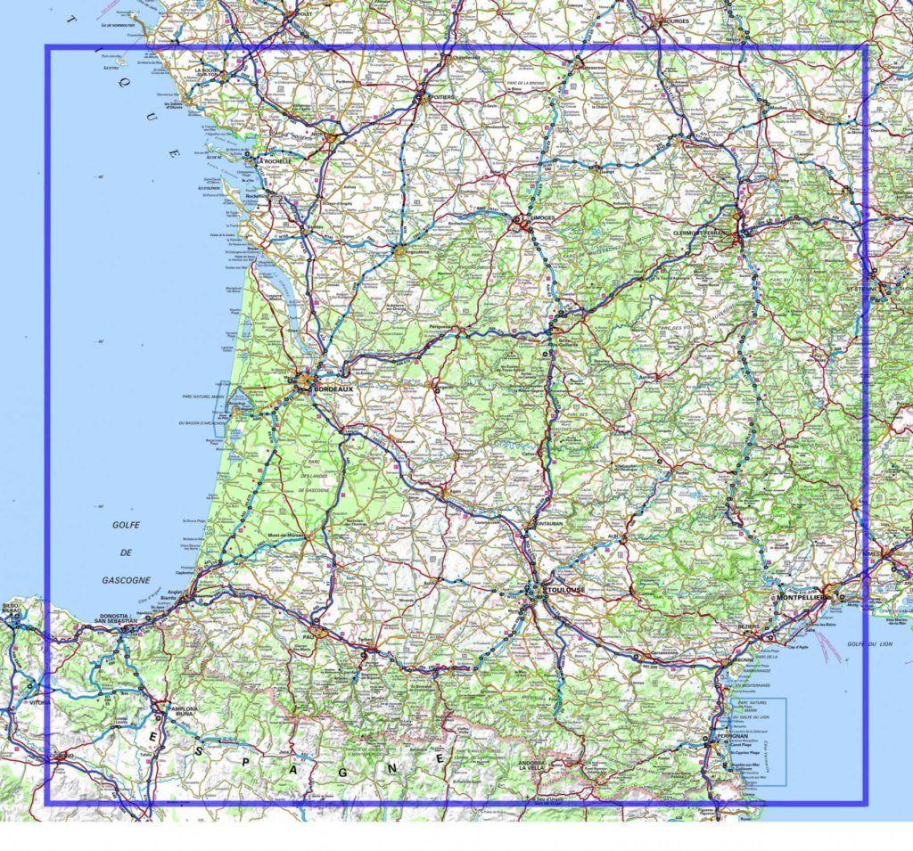 carte routiere sud ouest