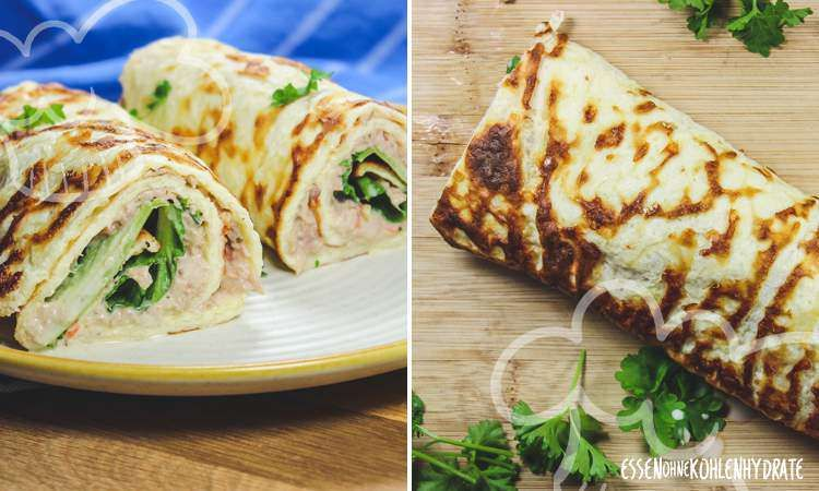 Tuna wrap – food without carbohydrates  – Essen ohne kohlenhydrate rezepte