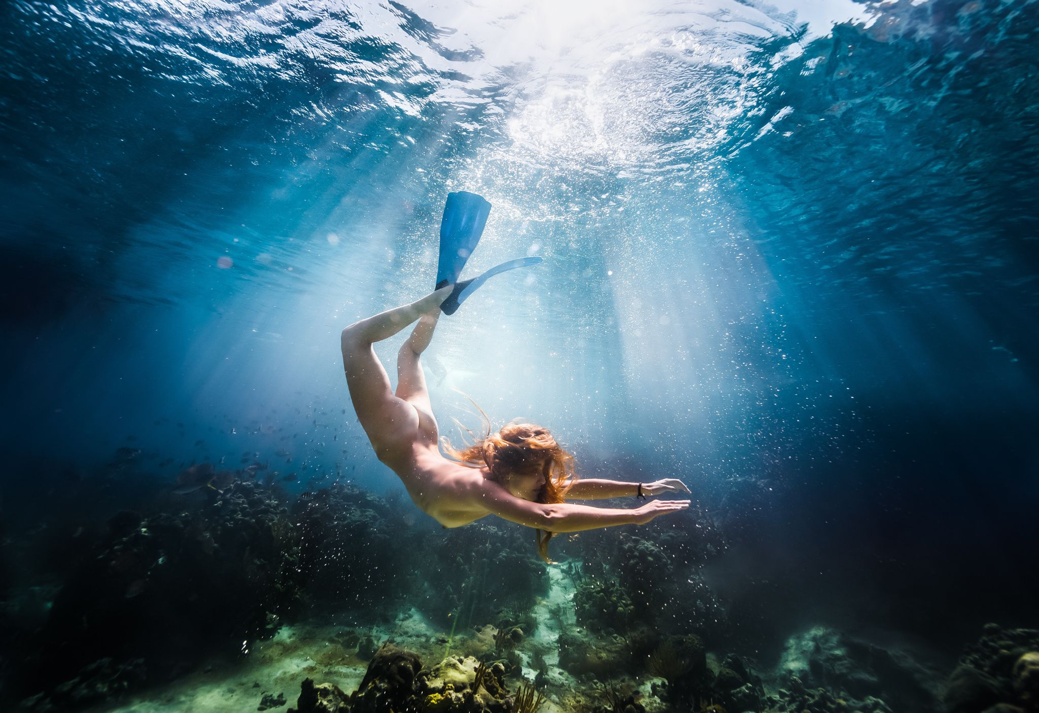 Free as a fish nothing is as refreshing as a nude dive - Dive famose nude ...