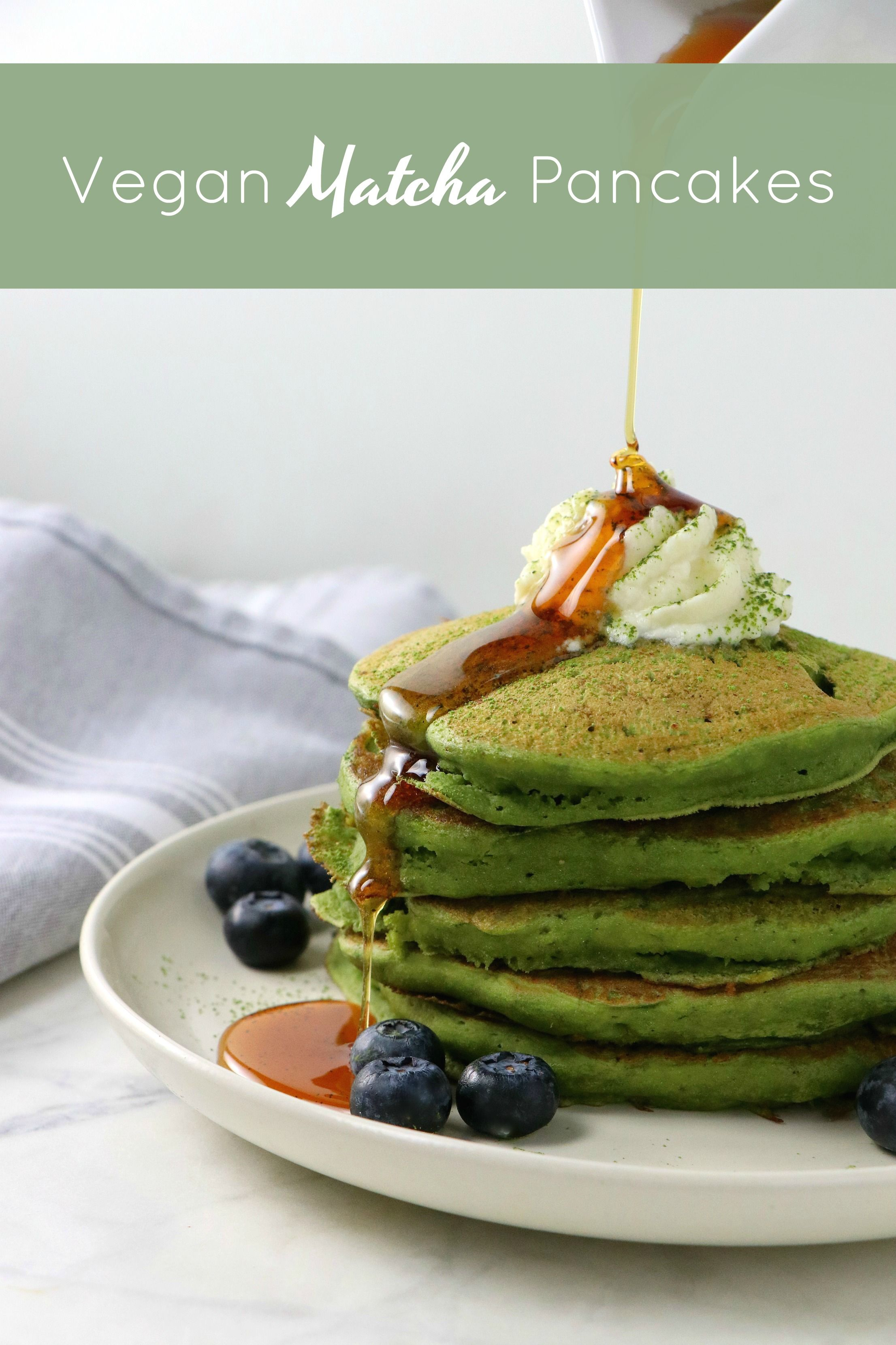 Vegan Matcha Pancakes Eat Drink Shrink Recipe In 2020 Matcha Green Tea Recipes Matcha Pancakes Matcha Recipe
