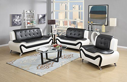 us pride furniture s50673pc 3 piece modern bonded leather sofa set rh pinterest co uk