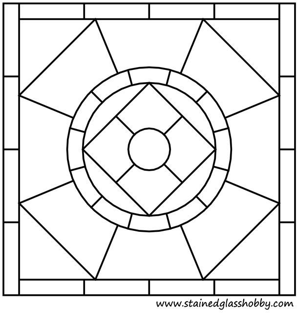 Coloring Pages For Quilt Blocks : Square panel pattern 1 outline quilting motifs pinterest