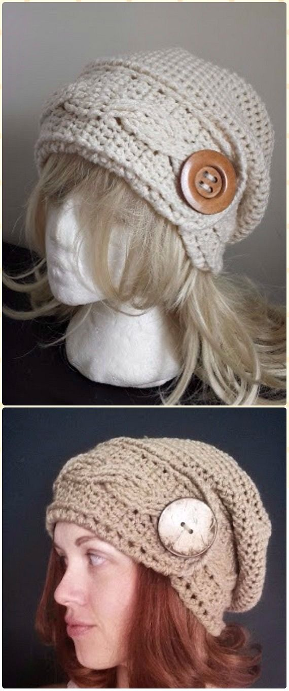 Crochet Cabled Headband Hat Free Pattern - Crochet Cable Hat Free ...