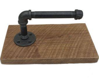 Toilettenpapierhalter Stand   WC Papier Stehen Rustikale  Toilettenpapierhalter Eisen Rohr Industriellen Moderne