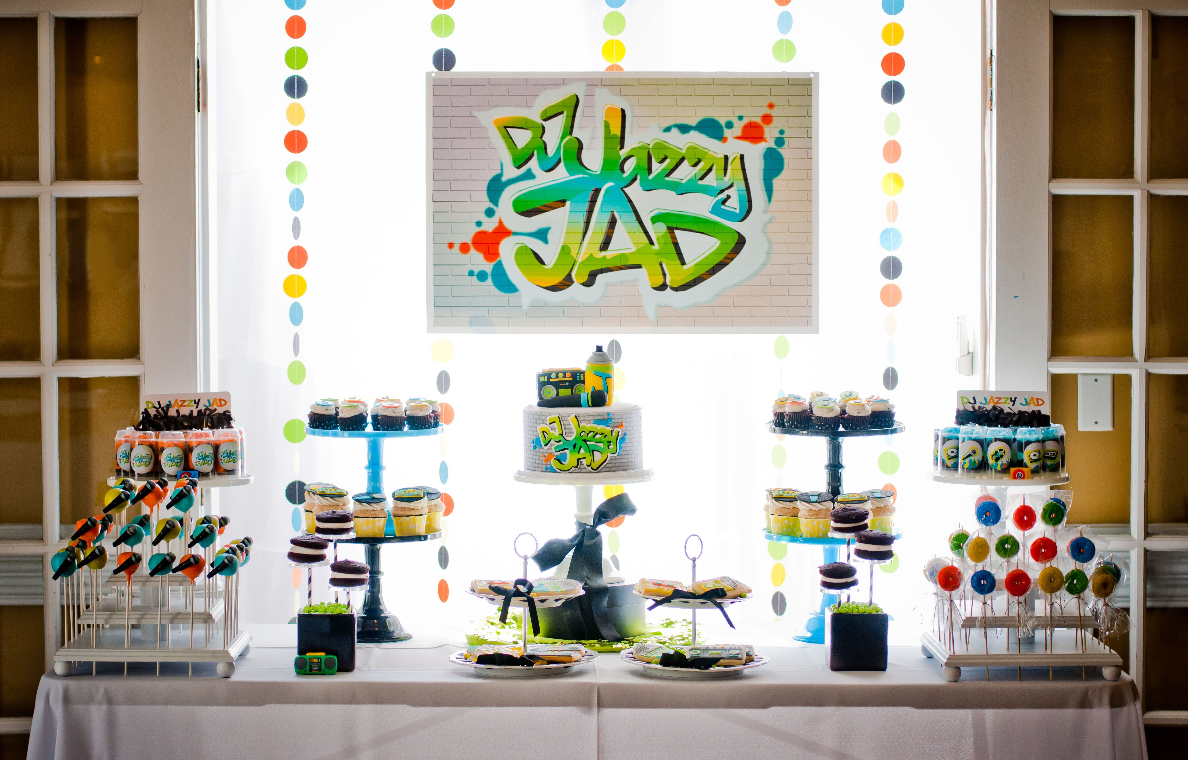 DJ Jazzy Jeff & Fresh Prince Inspired Party Desserts