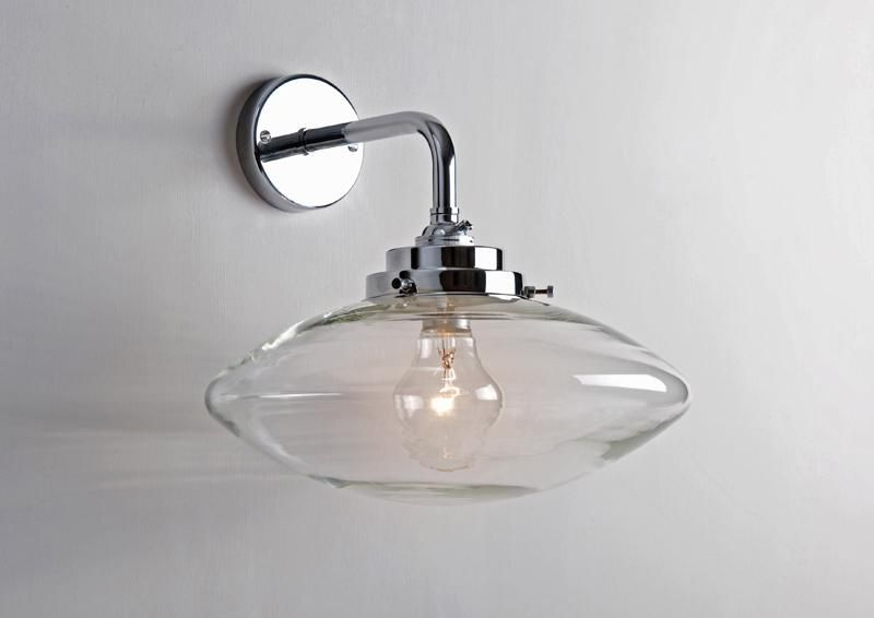 Clear Bubble Wall Light with Deco Fittings, NIckel | Deco Inspired ...