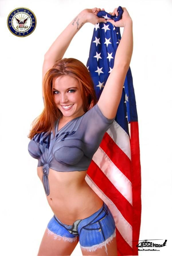 The military body paint babes are smoking hot and a true meaning of the  words democracy