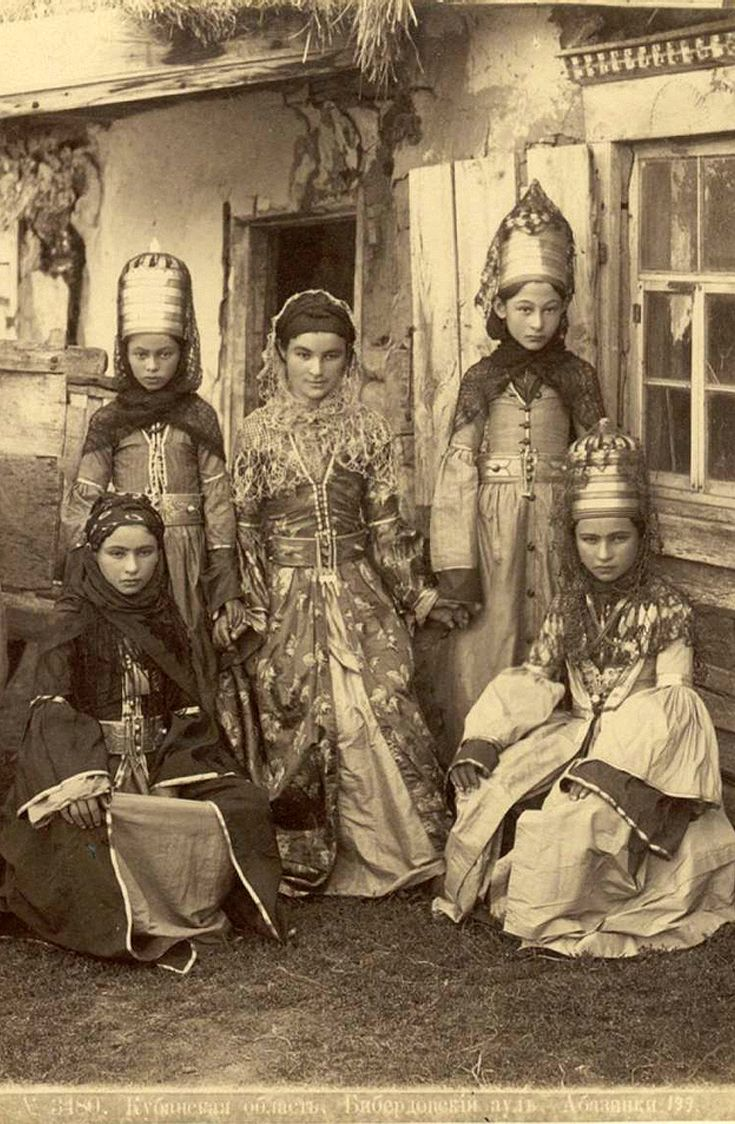 Dmitri Ermakov, Chronicler of the Caucasus. 1870s, Georgia. | In the Kuban region,  Biberdov aul, Abkhaz women