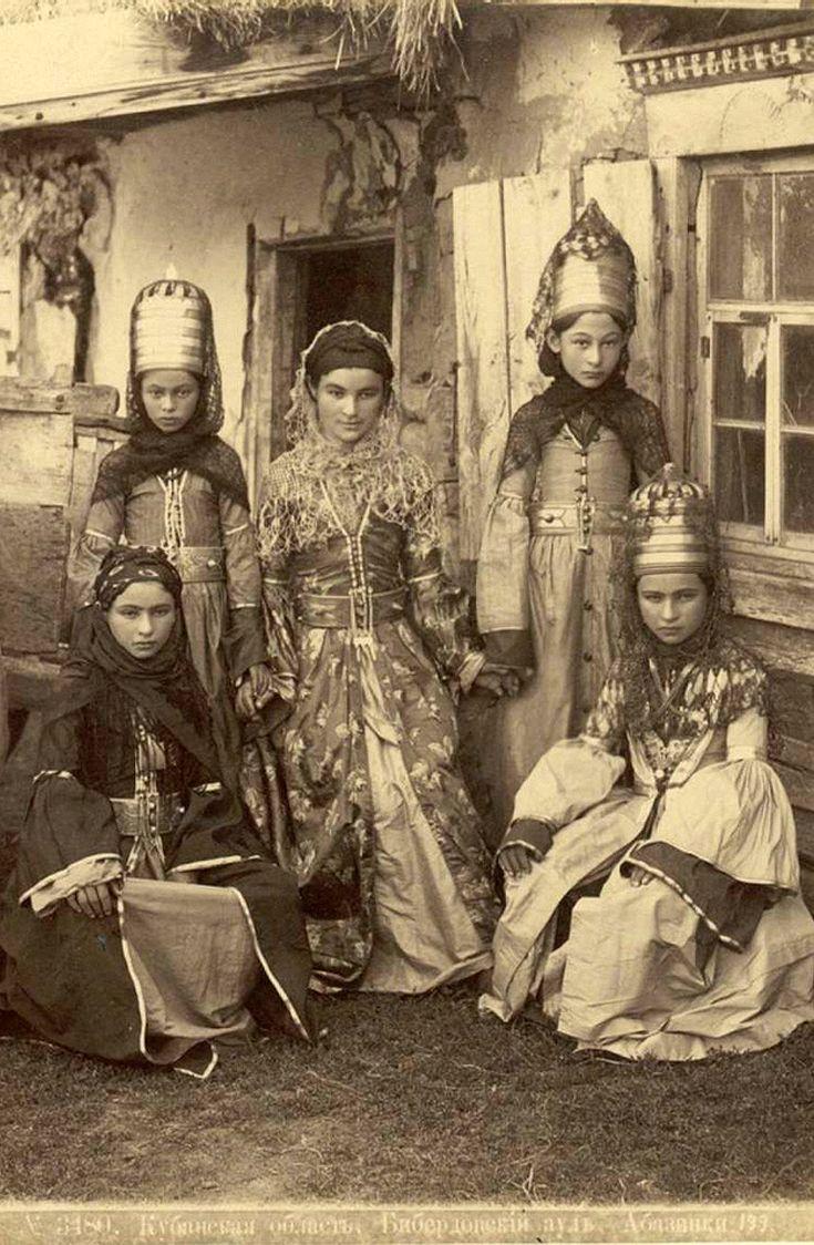 Dmitri Ermakov, Chronicler of the Caucasus. 1870s, Georgia. | In the Kuban region,  Biberdov aul, Abkhaz women