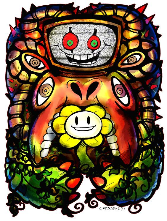 Flowey And Omega Flowey Undertale Flowey The Flower Undertale