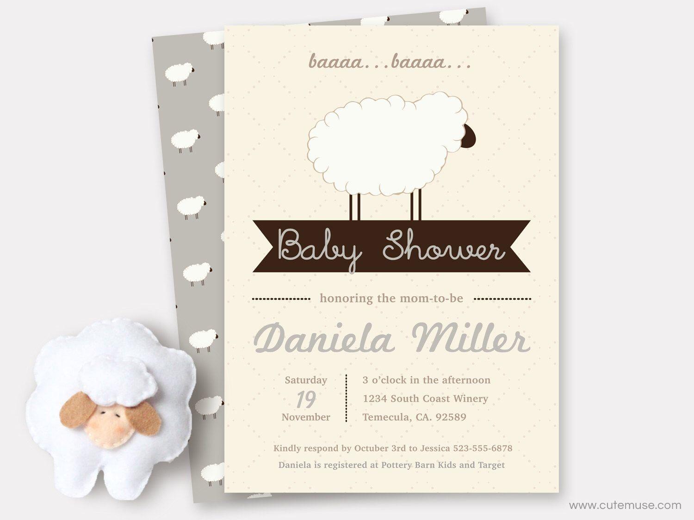 Pin by gloria montijo on baby shower invitaciones | Pinterest | Lamb ...