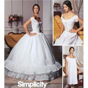 Simplicity 5726 Civil War Corset Chemise Petticoat Pattern