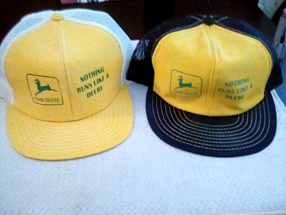 check out ed3bc 712d1 Vtg Lot Of 4 All USA Caterpillar CAT Louisville Mfg. Co. Snapback Trucker  Hats