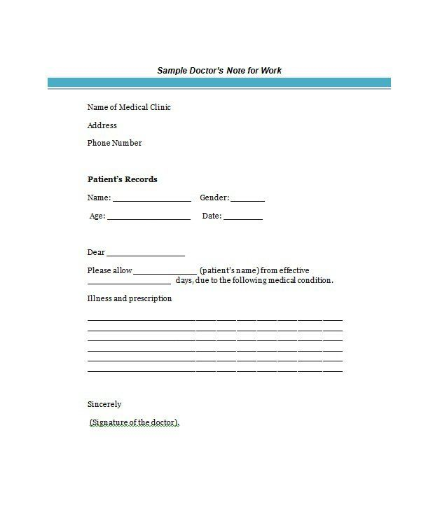 27 Fake Doctors Note Templates – Free Word, POT, PDF Documents ...
