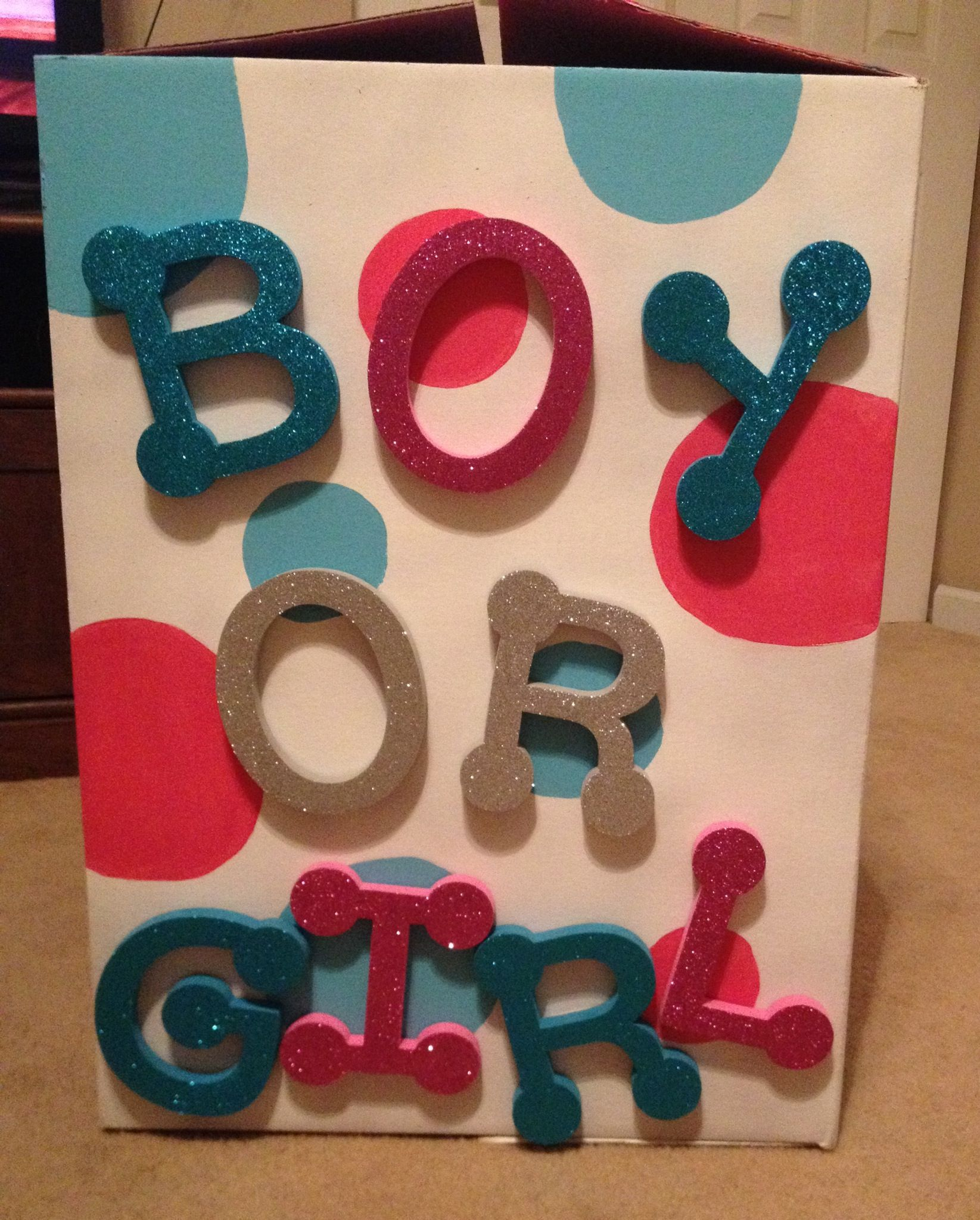 Gender Reveal Balloon Box All Supplies Found At Wal Mart Gender Reveal Party Theme Gender Reveal Balloons Gender Reveal Shower