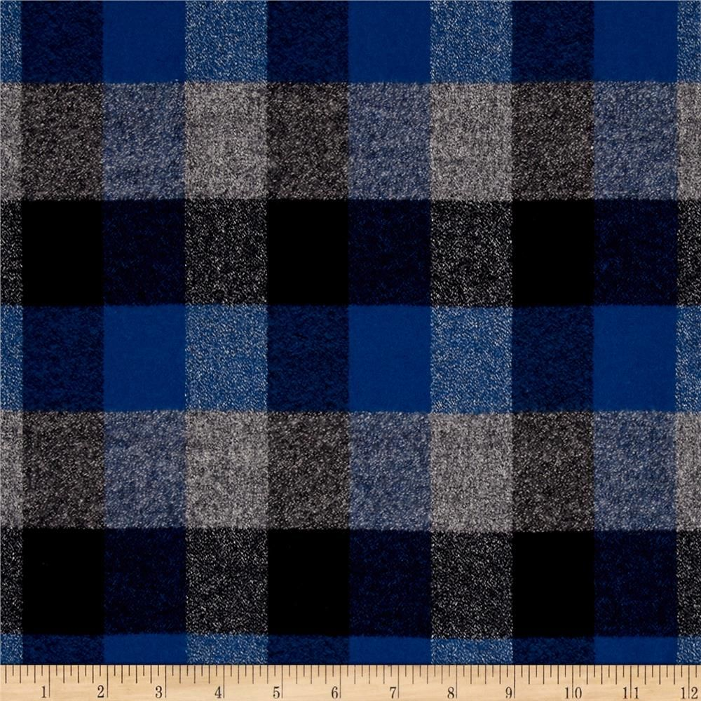 Kaufman Mammoth Flannel Plaids Ocean from @fabricdotcom  Designed for Robert Kaufman Fabrics, this soft double napped (brushed on both sides) medium weight (6.4 oz per square yard) flannel is perfect for shirts, loungewear and more! Features a yarn dyed plaid of blue, grey, and nay. Remember to allow extra yardage for pattern matching.
