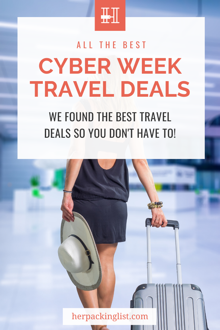 Buy your gear + book your trip for CHEAPER! This list has all the best travel deals, especially those happening this Cyber Week! #traveldeals #travelsales #cyberweek #hplworld
