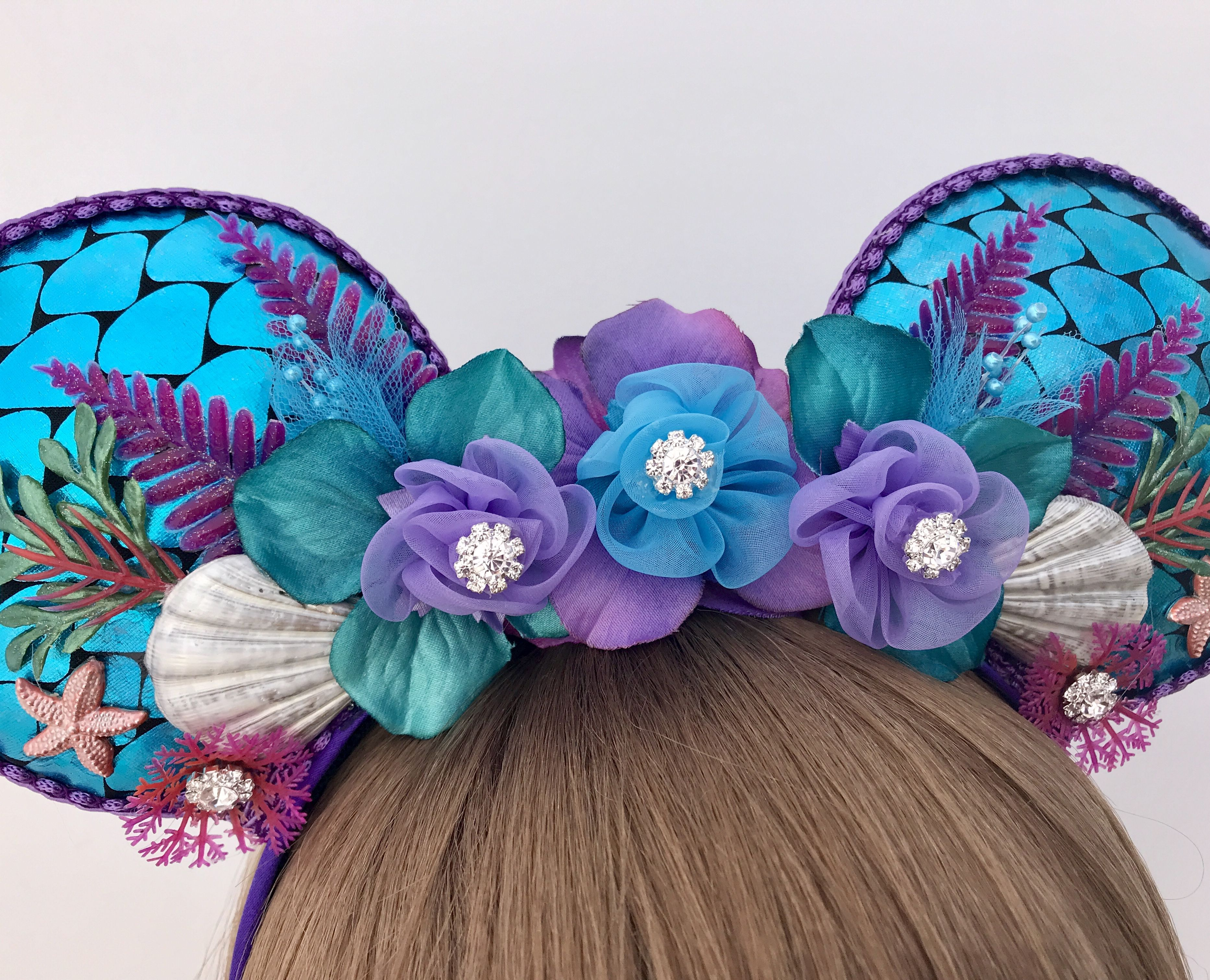 Handmade Disney Ears Princess Ears Ariel Ears