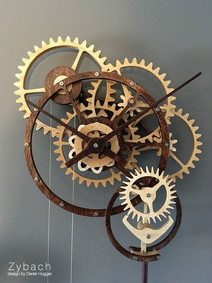 Zybach A Mechanical Clock Wood Clock Projects In 2019