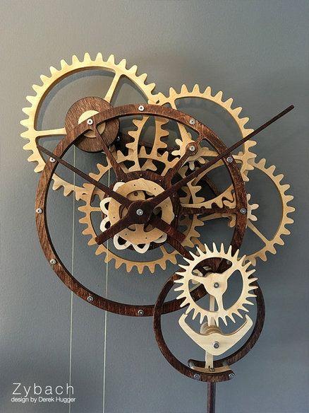 Zybach A Mechanical Clock Mechanical Clock Wooden Gear