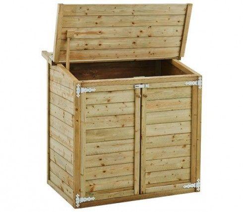 Coffre de jardin bois multi-fonctions   Bricolage - Palettes ...
