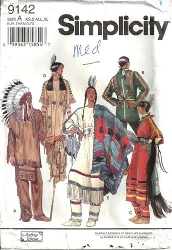 Native American Clothing Patterns | Simplicity 9142 Native American ...