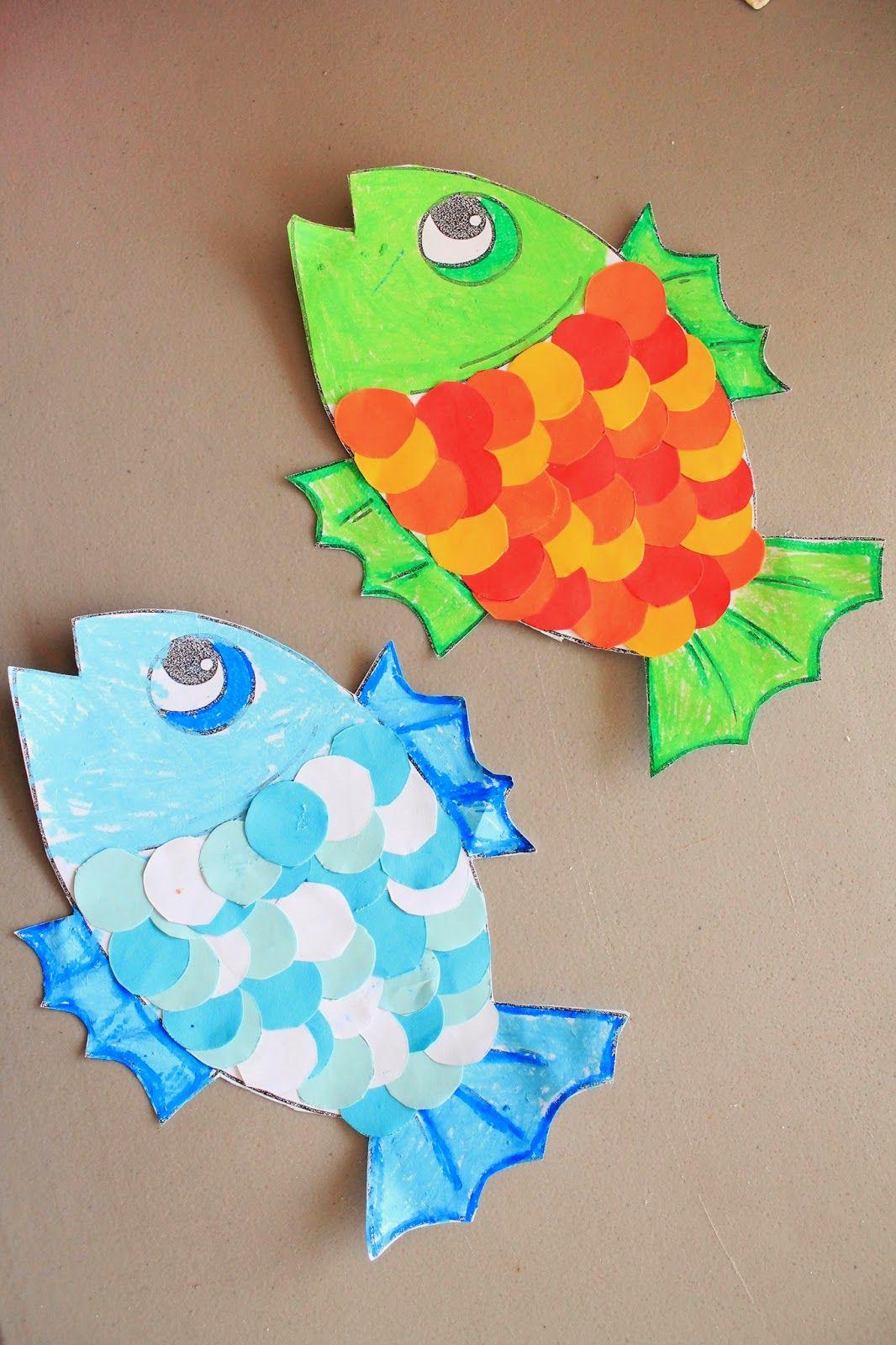Fish cutting skills activity actividad para aprender a for Fish art and craft