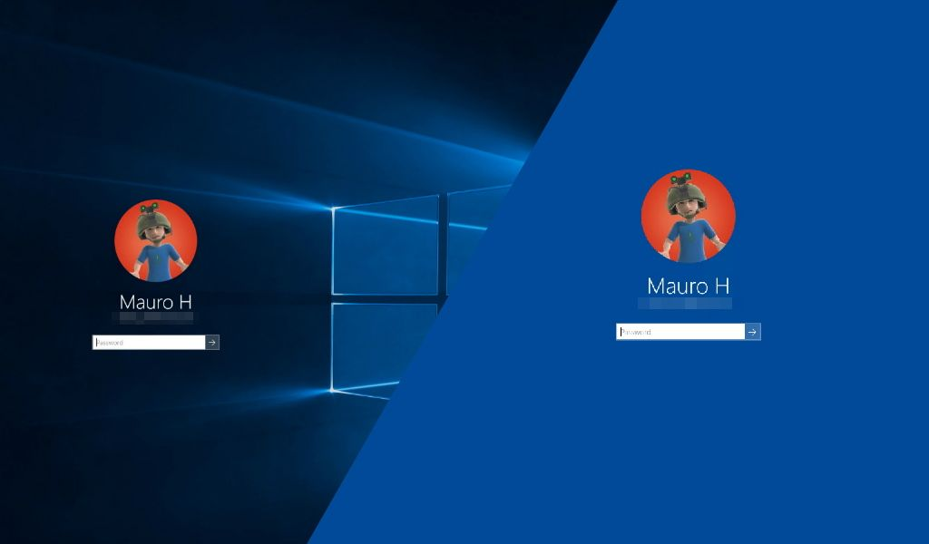 How To Remove The Windows 10 Logon Screen Background And Use Solid Color Pureinfotech Windows 10 Windows Color
