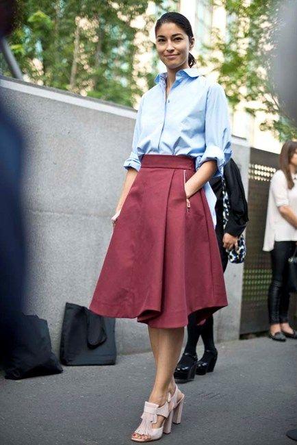 Street style trend: midi skirts - Image 14 | Elle | SS2015 ...