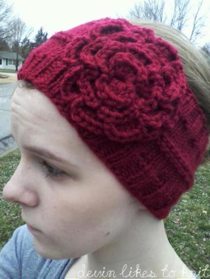 A Simple Headbandear Warmer Knit Pattern Knit Patterns Knitted