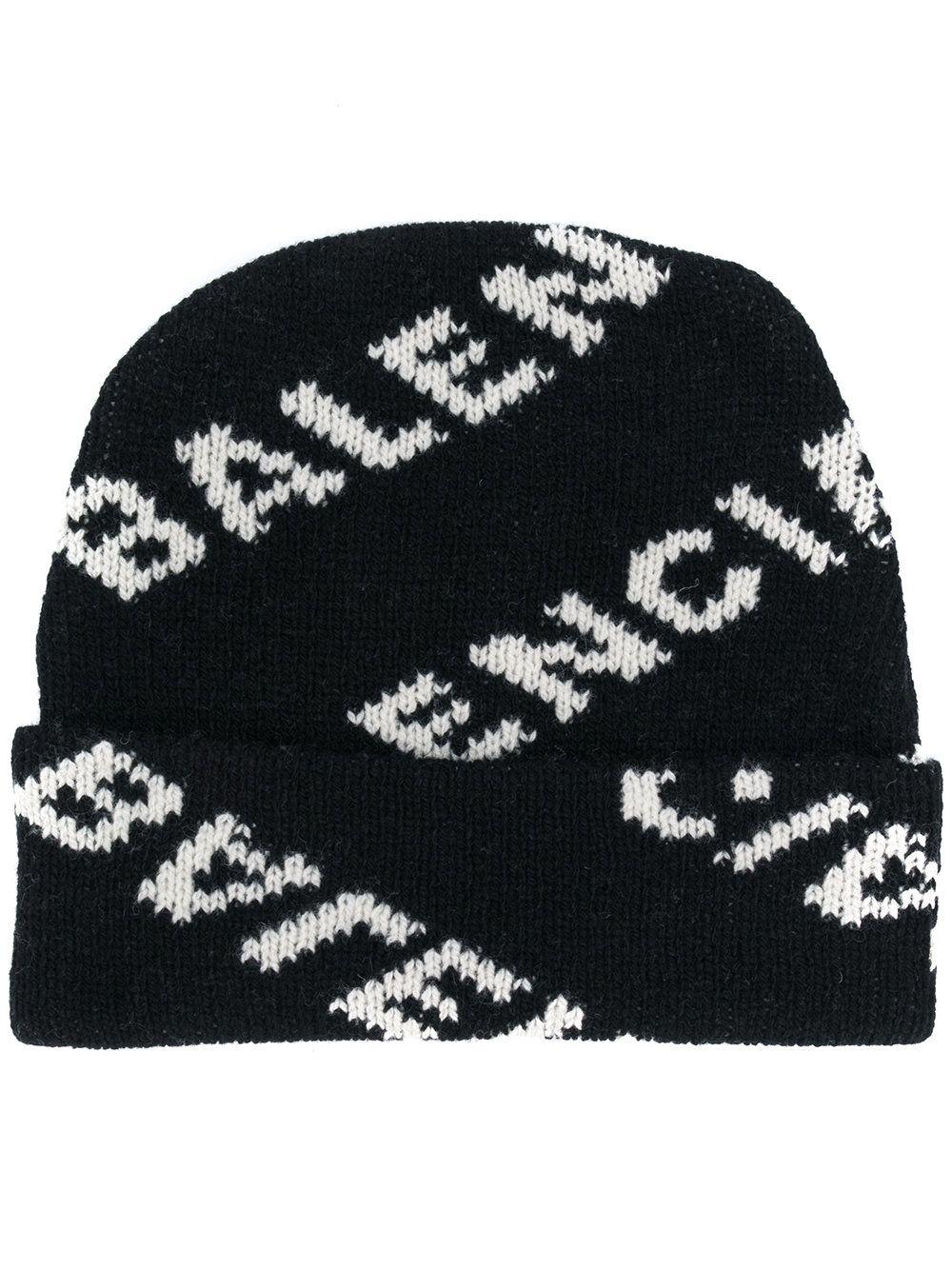 4b6c8953b0f BALENCIAGA logo刺绣针织帽.  balenciaga