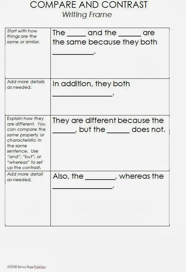 compare and contrast jpg × pixels anchor charts  compare contrast essay examples high school compare and contrast writing and sentence frames