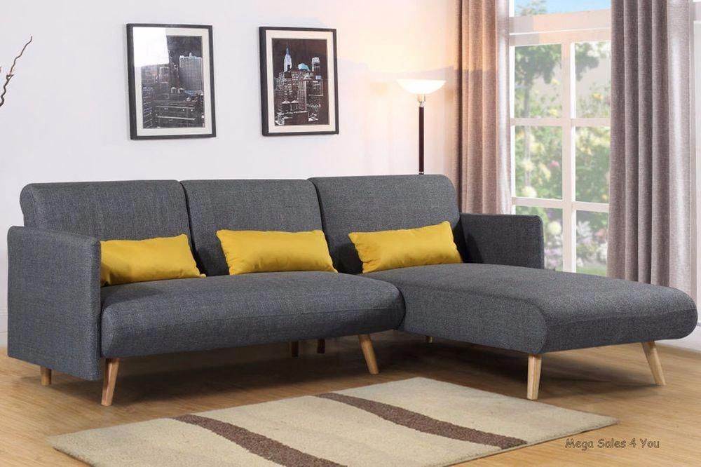 Corner Fabric Sofa Bed Grey Seater Chaise Longue Lounge Scandi Legs Living Room 7434951441477 Ebay Scandiliv Retro Corner Sofa Grey Sofa Bed Fabric Sofa Bed