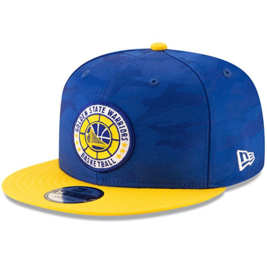 2dad631f8457 Men s Golden State Warriors New Era Royal Gold 2018 Tip-Off Series Two-Tone  9FIFTY Adjustable Hat