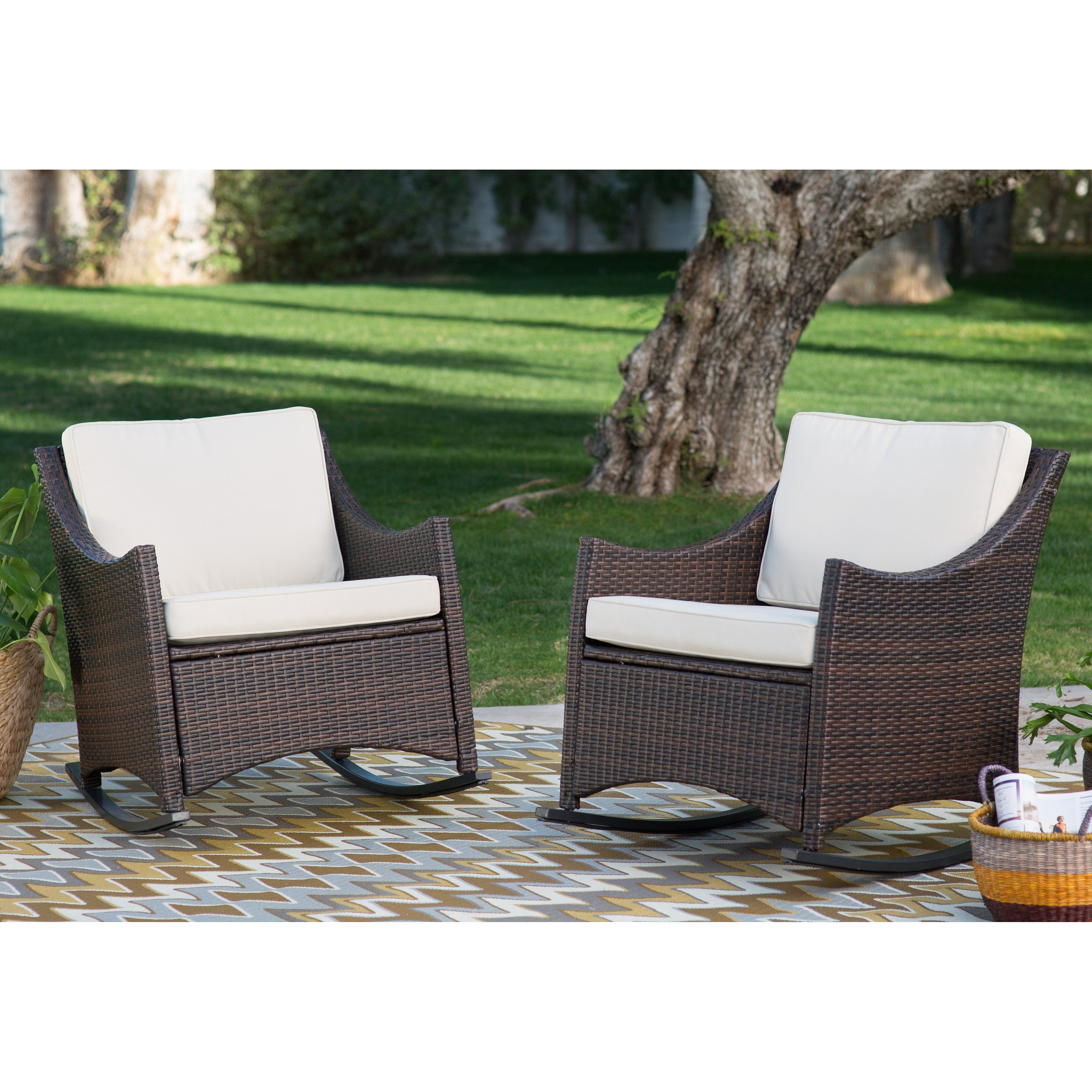 Coral Coast Harrison Club Style Rocking Chairs Set Of 2 From