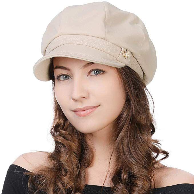 73042f36282 Womens Visor Beret Newsboy Cap Vintage Paperboy Cabbie Painter French  Winter Hat Beige
