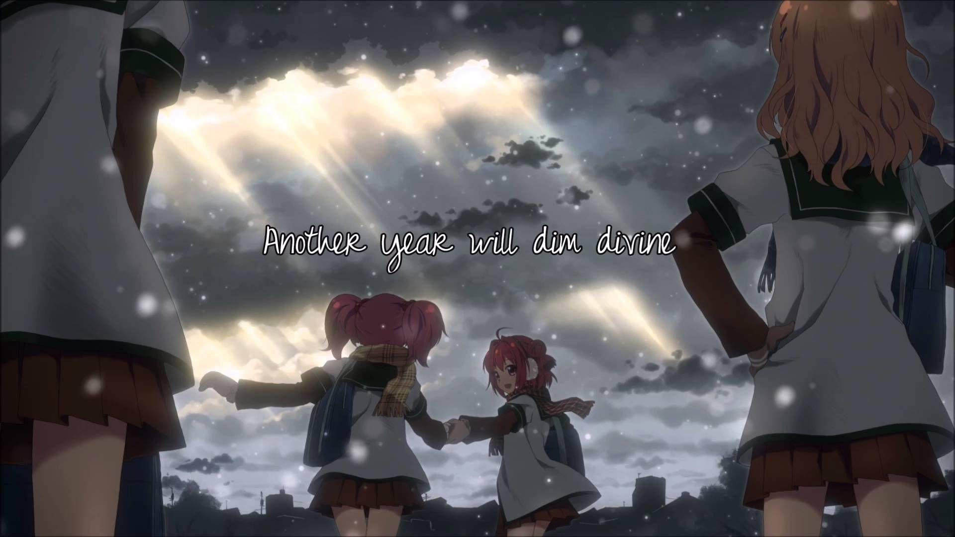 Nightcore New Year's Day Yuri anime, Anime wallpaper