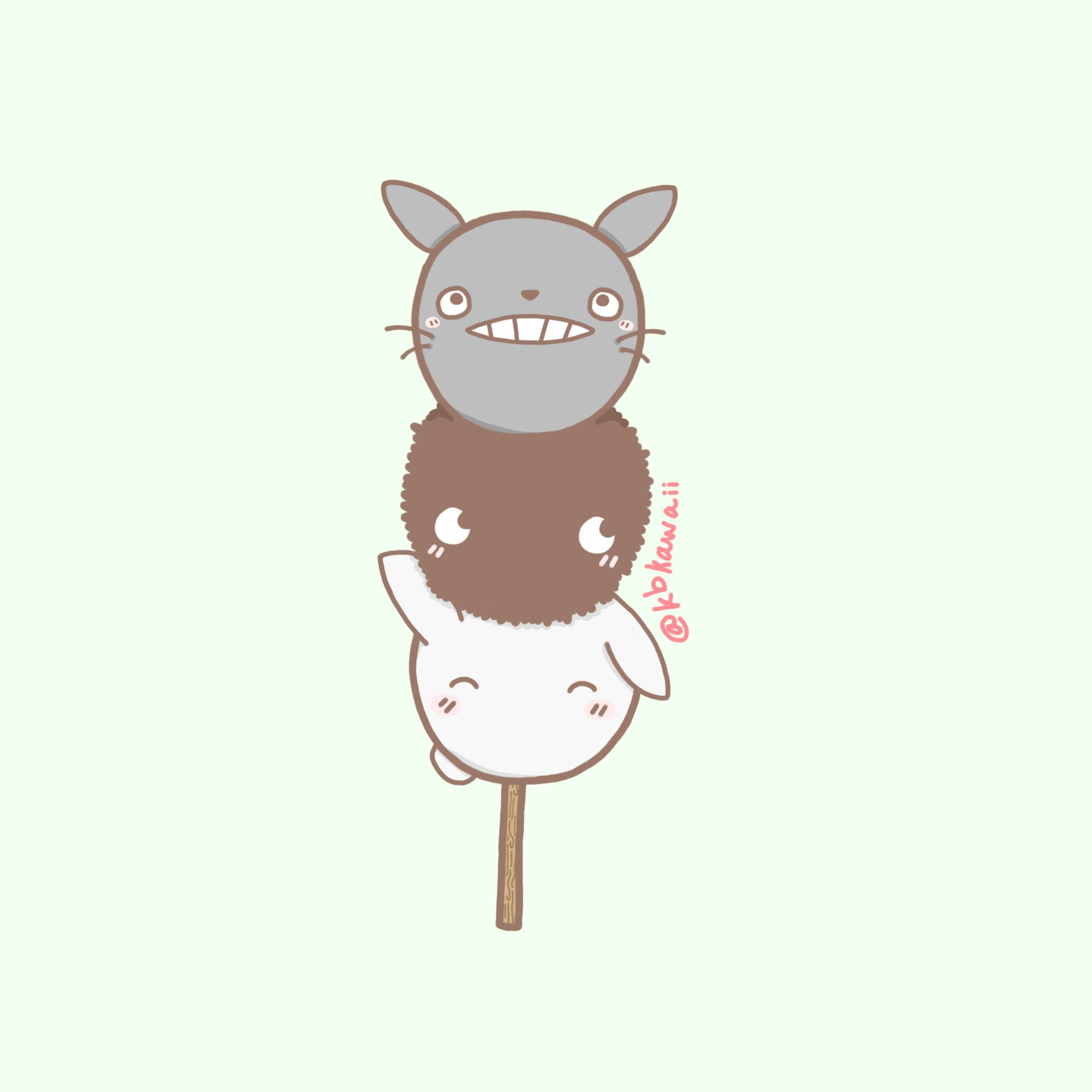 Totoro Dango drawn by @kbkawaii~