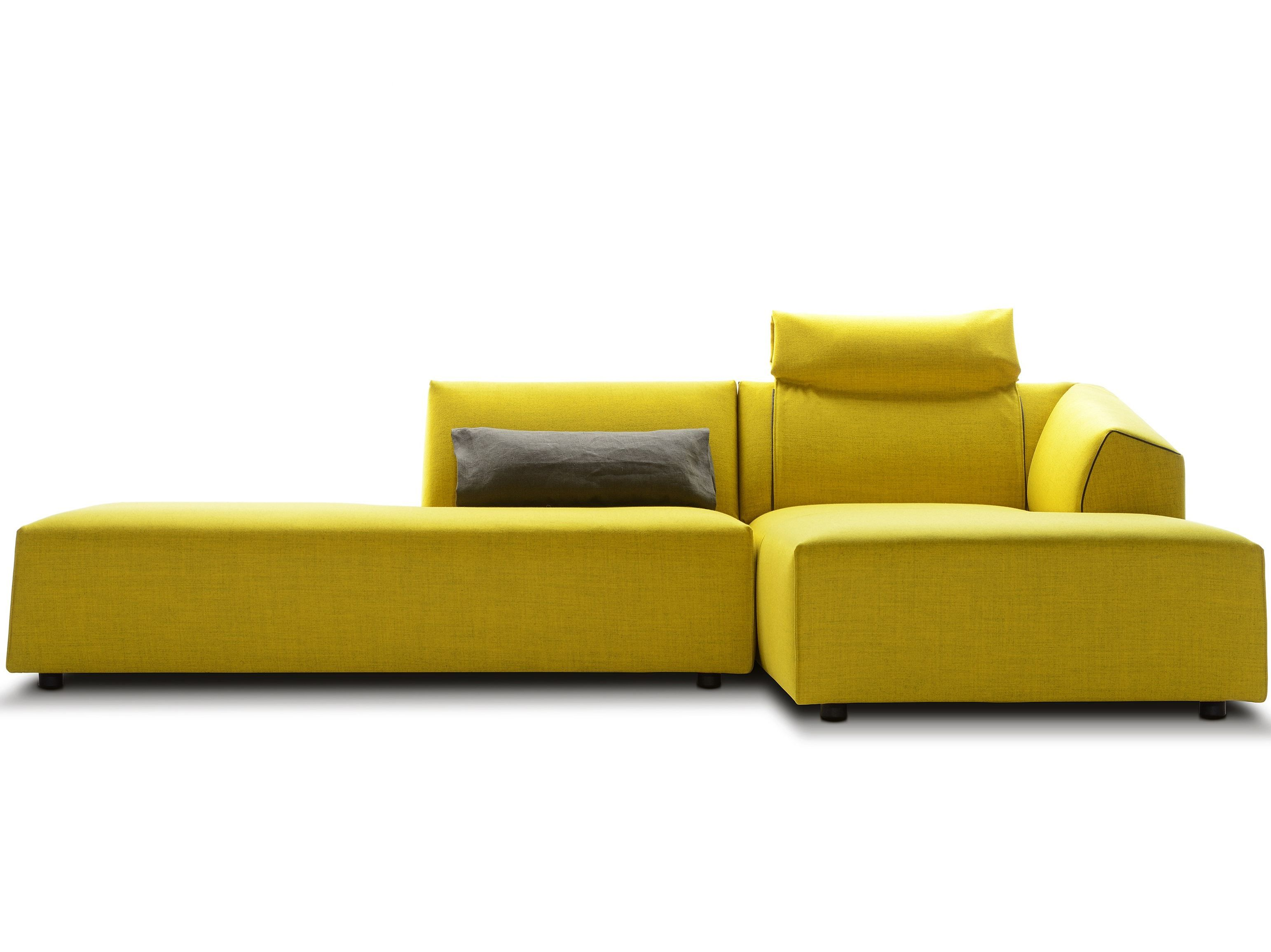 Sofa removable free spirited and flexible d 233 sir 233 e - Thea Sofa With Chaise Longue By Mdf Italia Fabric Sofa With Chaise Longue Design