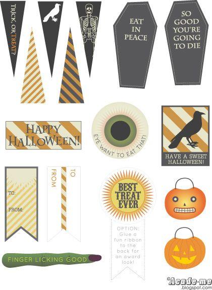 HalloweenTags | Halloween | Pinterest | Free halloween printables ...