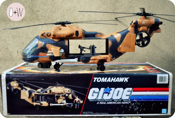 Gi Joe Tomahawk 1986 Helicopter Toy With Box By Octaviusweld