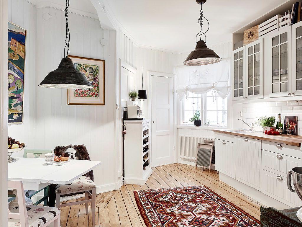 White cozy kitchen