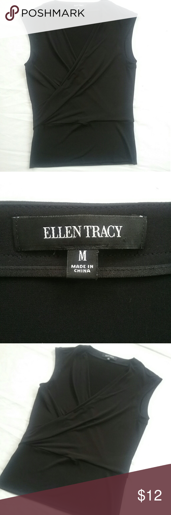 Ellen Tracy black work/office blouse sz medium Lightly used, sleeveless, im also in ebay as seller 10*ivy, lots more to choose from ellen tracy Tops