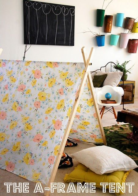 A-Frame tent DIY - any little one will be delighted with a tent like this, I think